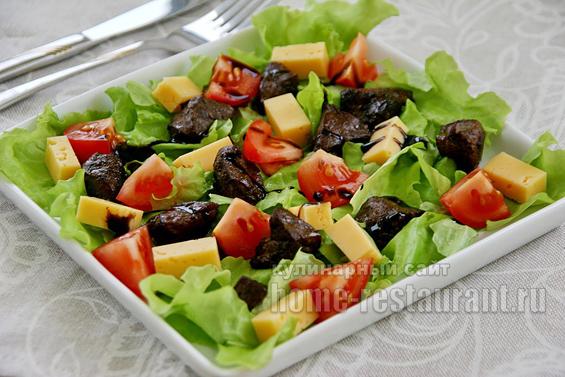 Теплый салат с печенью фото 11