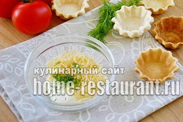 Закуска с красной икрой в тарталетках с сырно-сметанной пастой_2