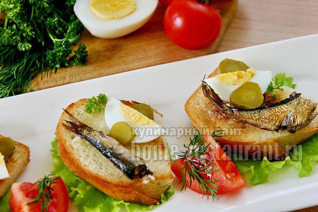 Бутерброды со шпротами фото 9
