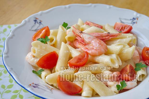 Паста с креветками в сливочном соусе рецепт с фото_11