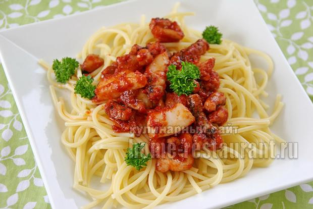 спагетти с морепродуктами фото 16