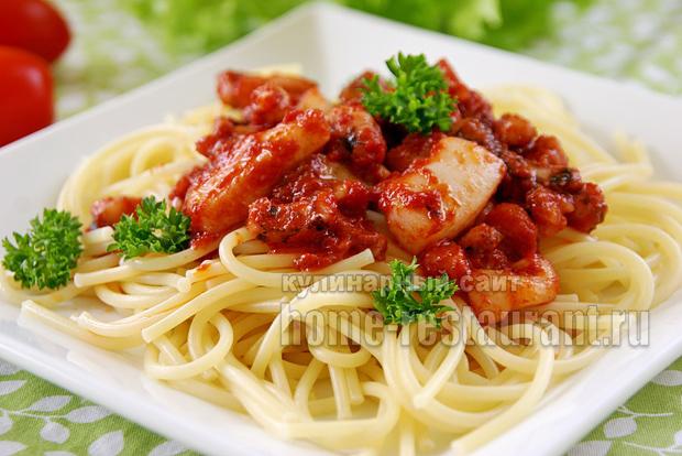 спагетти с морепродуктами фото 9