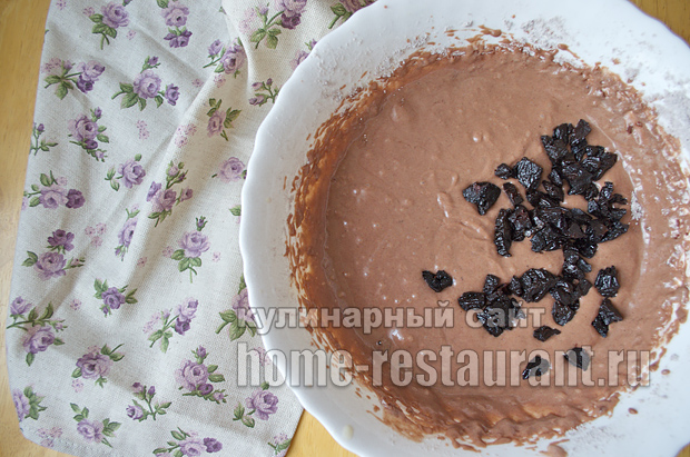 Шоколадный кекс с черносливом в духовке - рецепт пошаговый с фото