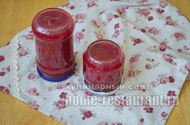 Варенье из персиков- рецепт с малиной и лаймом_13