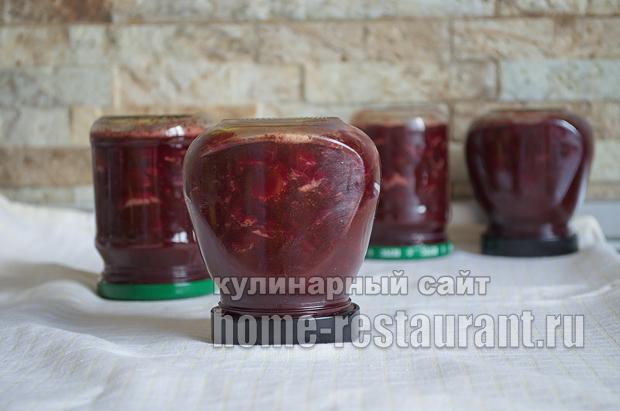 Вишневое варенье с шоколадом и коньяком_12