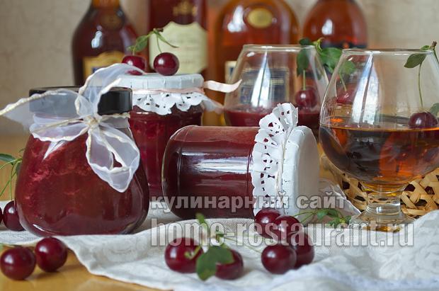 Вишневое варенье с шоколадом и коньяком_15