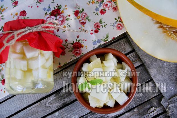 Дыня в ванильно-цитрусовом сиропе, пошаговый рецепт с фото