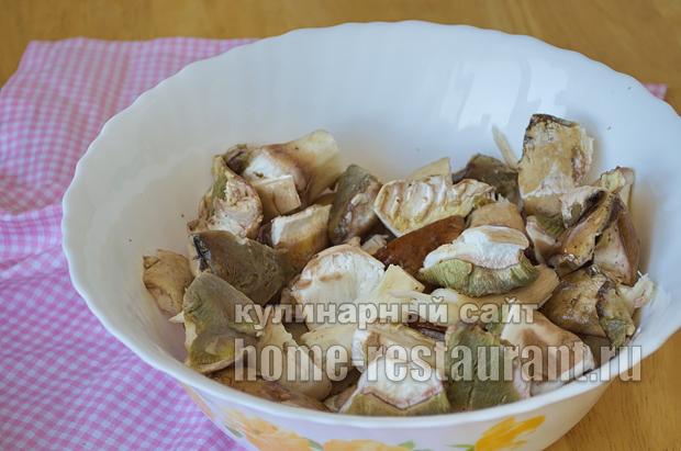Как жарить белые грибы рецепт с фото пошагово _01