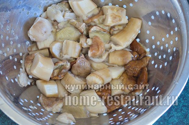 Как жарить белые грибы рецепт с фото пошагово _04