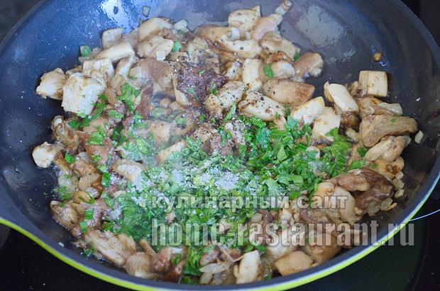 Как жарить белые грибы рецепт с фото пошагово _09