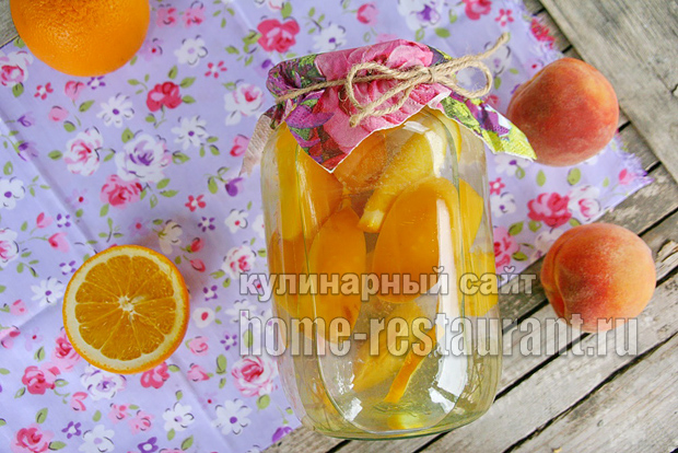 Компот из персиков фото 10