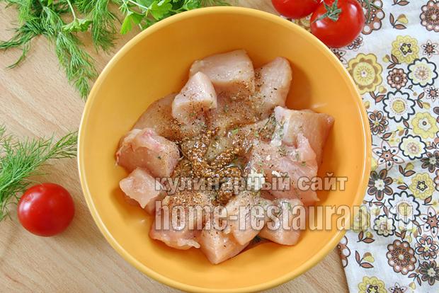 Куриные шашлычки на шпажках в духовке _6