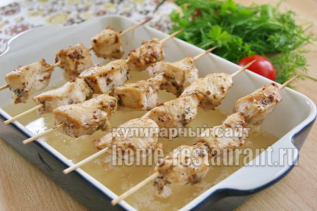 Куриные шашлычки на шпажках в духовке _9