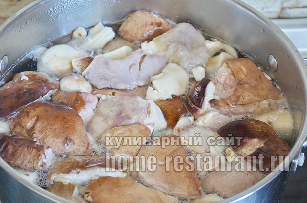 Маринованные белые грибы на зиму рецепт с фото_04