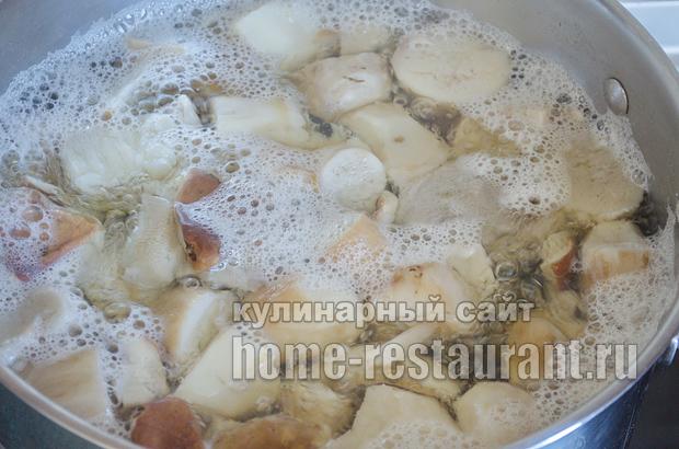 Маринованные белые грибы на зиму рецепт с фото_05