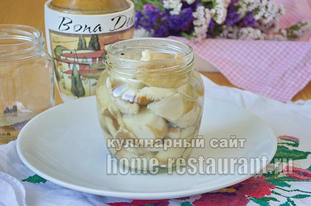 Маринованные белые грибы на зиму рецепт с фото_10