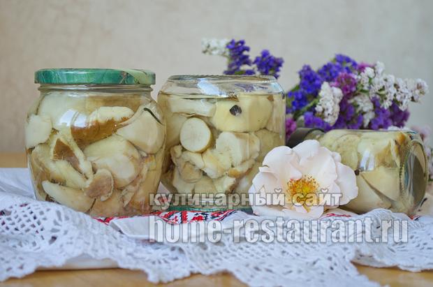 Маринованные белые грибы на зиму рецепт с фото_13