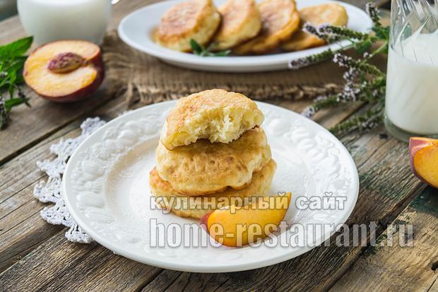 Оладьи без яиц на кефире рецепт с фото _5