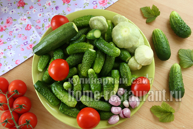 Овощное ассорти на зиму «Огород в банке» в литровых банках_8