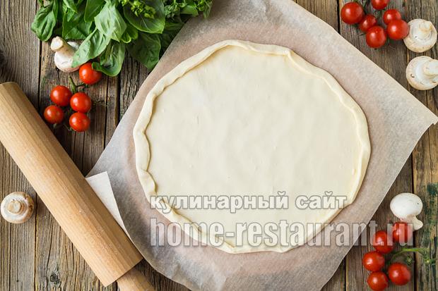 Пицца на слоеном тесте в духовке фото_13