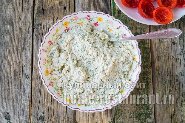 Помидоры фаршированные сыром и курицей_2