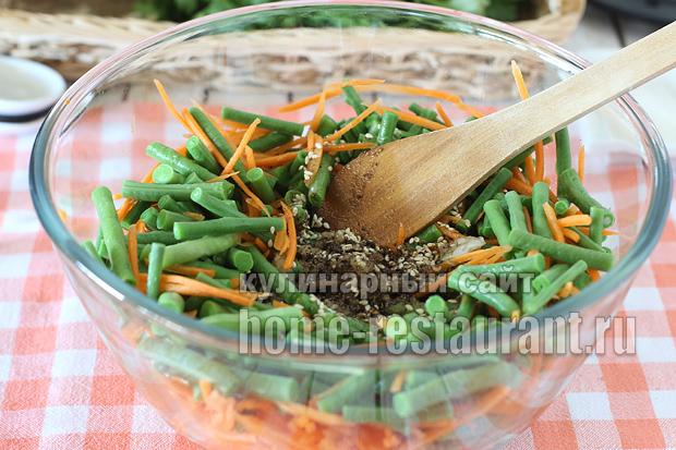 Спаржевая фасоль по-корейски рецепт с фото_13