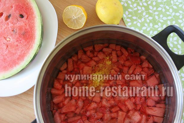 Варенье из арбуза с лимонной цедрой фото 4