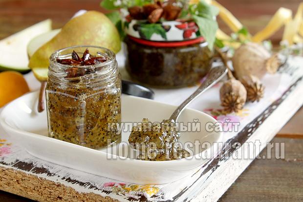 Варенье из груш на зиму с маком- рецепт с фото_06