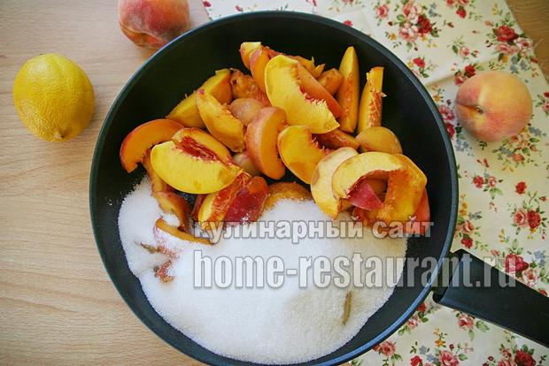 Варенье из персиков на сковороде фото 2