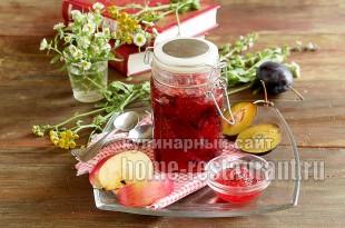 Варенье из слив и яблок простой рецепт фото_4