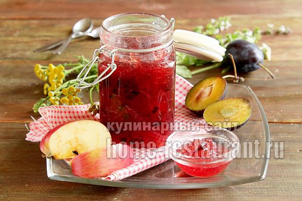 Варенье из слив и яблок простой рецепт фото_5