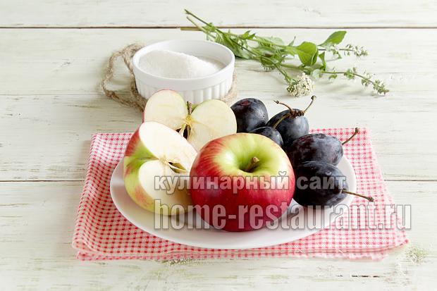 Варенье из слив и яблок простой рецепт фото_6