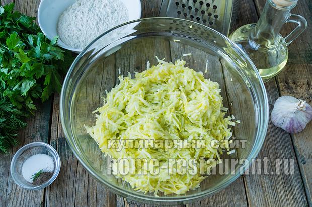 оладьи из кабачков без яиц- рецепт с фото_08