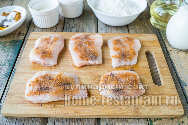 Куриные отбивные в кляре рецепт с фото_11