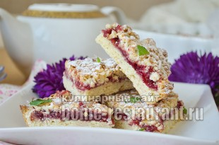 Тертый пирог с вареньем рецепт фото _13