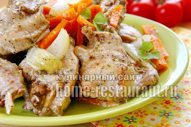 Кролик в сметане в духовке фото, фото рецепт Кролика в сметане в духовке
