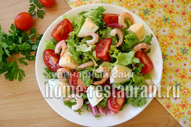 салат с креветками фото 6