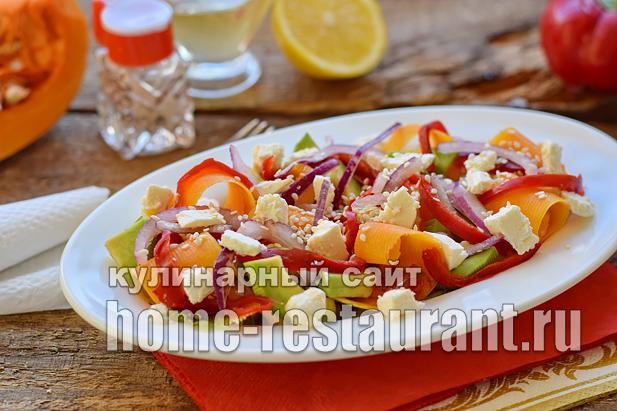 Салат с авокадо тыквой и сыром фета_09