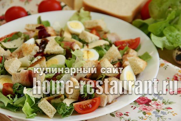 салат с курицей и беконом фото 13
