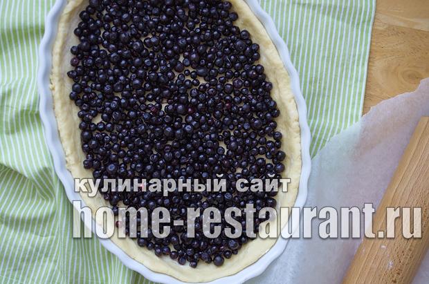 Черничный пирог со сметанной заливкой_13
