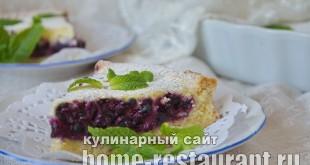 Черничный пирог со сметанной заливкой_17