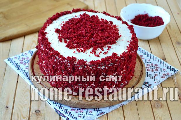 Торт Красный Бархат рецепт с фото пошагово_08