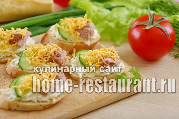 Бутерброды с тунцом консервированным