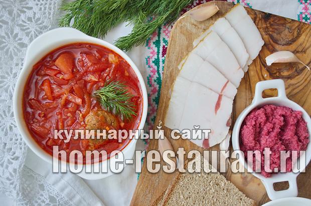 Украинский борщ рецепт классический с фото _17