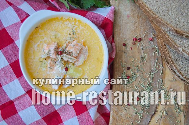 Финский суп с лососем и сливками  фото, фото рецепт Финского супа с лососем и сливками