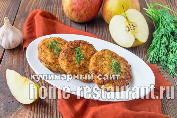 Куриные котлеты с яблоком
