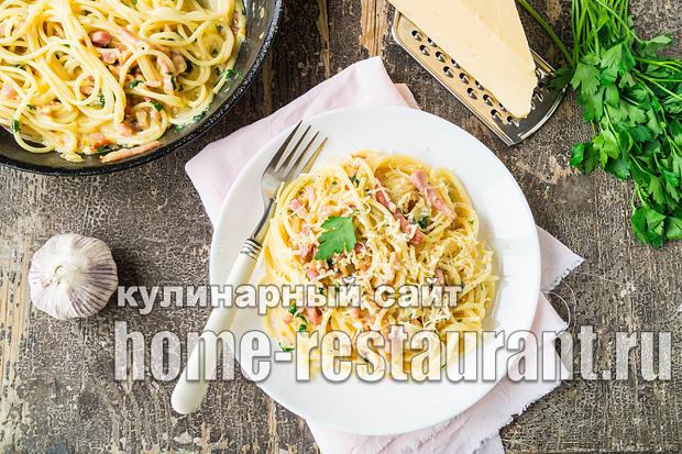 Спагетти карбонара классический рецепт со сливками _3