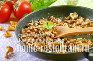 Лисички жареные в сметане рецепт с фото_03