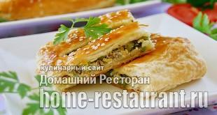 Пирог из слоеного теста с рыбными консервами  фото_1