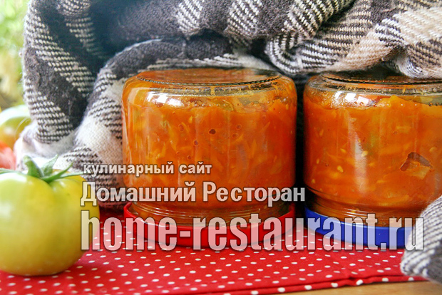 Салат из зеленых помидор на зиму с томатной пастой фото_11